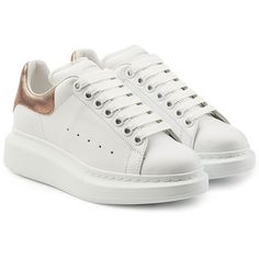 76ed25c4990 Alexander McQueen Leather Sneakers (2777165 PYG) ❤ liked on Polyvore  featuring shoes