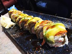 Use super power to slay this dragon for dinner a Super Dragon Roll (5/5 NOMs) from Sushi Plus, Japanese restaurant in Redwood City, San Francisco Bay Area suburb. Like a dragon this sushi roll packs a punch with some great topping combinations like...