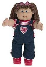 "My mother swears up and down that in August (around my birthday) I pointed out and desperately wanted the ""ugliest doll she had ever seen.""  Lo and behold, that Christmas they were the hottest ticket item to be had (and for many Christmases after).  My first Cabbage Patch Kid was a brunette with pigtails who I named Wendy.  My mother spent the next few years sewing clothes for her."