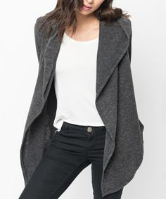 This Caralase Black Pocket Hooded Open Cardigan by Caralase is perfect! #zulilyfinds