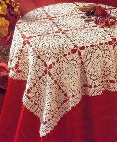 Crochet handmade tablecloth