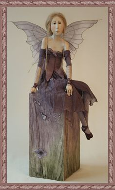 paperclay faerie by dutch artist Tine Kamerbeek