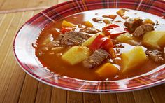 """Bob Chorba - Literally meaning """"Bean Soup,"""" this traditional Bulgarian soup can use any mix of beans, and is stewed with tomatoes, onions, carrots and chubritza (known as Summer Savory) or Spearmint. Summer Savory, Bulgarian Recipes, Bulgarian Food, European Cuisine, Borscht, Hot Soup, Weird Food, Beef Stroganoff, Bean Soup"""