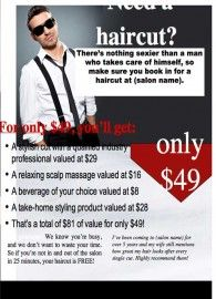 Male Desire Hair Cut Package This Template Is Available In A