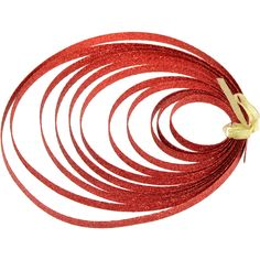 """3/8"""" Metallic Glitter Strapping: Red (5 Yards)"""