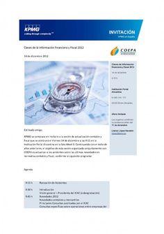 Claves de la Información Financiera y Fiscal 2012. 14/12 en IFa