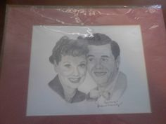 I'm selling 11 x 14 Hand Drawing of Lucille Ball and Desi Arnaz - $13.00 #onselz