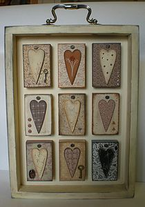 Wooden Heart Shadow Box Frame Would be a cute use of an old drawer