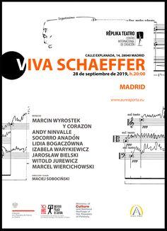 V I V A  S C H A E F F E R 🎼 🔜28 de septiembre | 20h ·· Representado en varias ciudades europeas, #VIVASCHAEFFER es un espectáculo dedicado a la creación del autor teatral y compositor Boguslaw Schaeffer. Un conjunto de 20 artistas, actores y músicos provenientes de #Polonia, darán vida a este montaje escénico-musical una sola vez en #Madrid, en nuestra sala. . . #replikateatro #madridteatro #boguslawschaeffer #conciertoenmadrid #contemporaneo #espectaculo #performances #polonia Madrid, Poland, Composers, September, Theater, The Creation, Author, Cities
