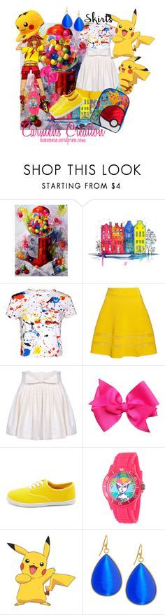 """Anime Pikachu Skirt"" by carmen-ireland ❤ liked on Polyvore featuring Terrece Beesley, Alice + Olivia, M Missoni, Marta Ferri, Charlotte Russe, Disney, York Wallcoverings and Panacea"