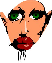 Indian Face by @3Dline, My hand drawing that traced and retouched., on @openclipart