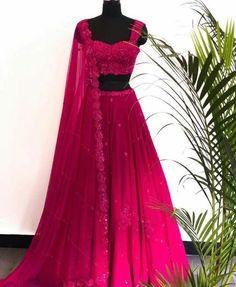 Buy beautiful Designer fully custom made bridal lehenga choli and party wear lehenga choli on Beautiful Latest Designs available in all comfortable price range.Buy Designer Collection Online : Call/ WhatsApp us on : Indian Bridal Outfits, Indian Bridal Wear, Indian Designer Outfits, Indian Wear, Indian Attire, Lehnga Dress, Saree Gown, Indian Gowns Dresses, Formal Dresses