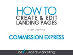 Commission Express Cushy Content Management System Instructions by myrevsource via slideshare