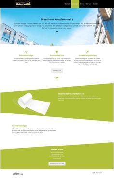 Webdesign Malerbetrieb für Hausverwaltungen