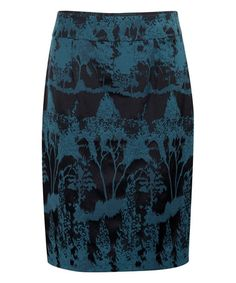 Look what I found on #zulily! Teal Jacquard Abstract Pencil Skirt #zulilyfinds