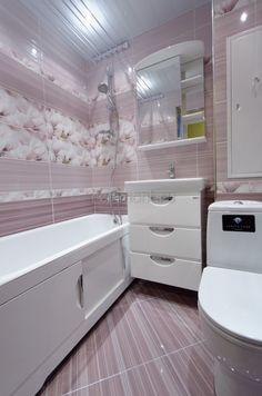 Ремонт санузла с фиолетовой плиткой Rapsodia Gracia Ceramica - Ремонт санузла в доме II-18-02/12