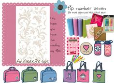 """""""Tip number 7. Be more organized for school ."""" by andreax3 ❤ liked on Polyvore"""