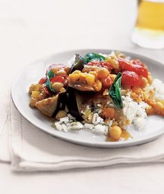 Serve this fresh, summery dish with plain yogurt to balance out the warming curry sauce. Get the recipe for Curried Eggplant With Tomatoes and Basil.