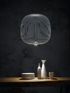 Foscarini Spokes 2 MyLight pendant lamps at led lamps online shop Pipe Lighting, Suspended Lighting, Custom Lighting, Lighting Design, Santa Cole, Painted Furniture, Furniture Design, Plug In Pendant Light, Pendant Lamps