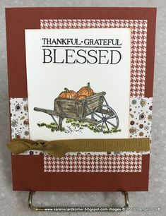 karenscardkorner: Stampin' Up! Fall Cards, Holiday Cards, Christmas Cards, Halloween Cards, Fall Halloween, Stamping Up Cards, Bird Cards, Thanksgiving Cards, Cards For Friends