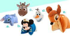 Disney pillows | Everything Disney for better air travel | [ https://style.disney.com/living/2016/06/07/everything-disney-for-better-air-travel/ ]