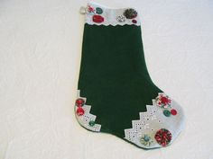 Heirloom quality  Christmas Stocking hand by KaTerryTheSewSisters