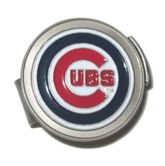 Chicago Cubs Hat Clip & Golf Ball Marker by McArthur. $9.95. Show your team pride and spirit while you golf by wearing a Chicago Cubs magnetic golf ball marker hat clip. Forget about fumbling through your pocket for a ball marker.  This attractive golf accessory fits securely to a hat, baseball cap or belt giving you the convenience to retrieve a ball marker at any time. Slide the marker down and out to use, then slide back into place when you are ready to put ...