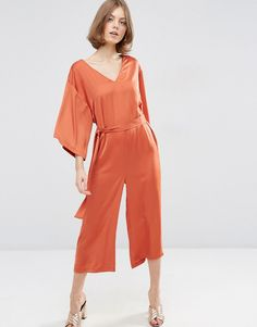 ASOS+Belted+Satin+Jumpsuit+with+Kimono+Sleeve