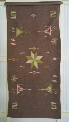 Hand woven native American saddle blanket, mid 1950's.