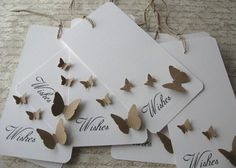 Anna...for notes or even menus? 100 Wedding Wishing Wish Tree Butterfly Tags Set/100 by WhimsyPics, $150.00