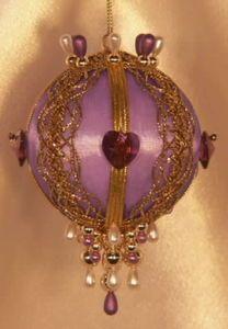 """Swarovski Crystal Birthstone Orna Mentz - """"February - Amethyst"""""""