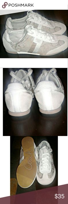 Offers are welcomed 😊Coach shoes White , light brown and tan coach shoes Coach Shoes Sneakers