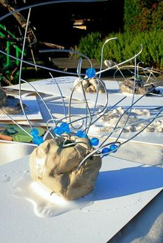 Clay, wire and beads sculpture - Creative Children's Center ≈≈