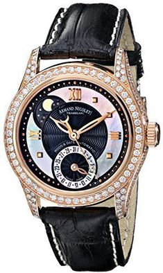 4f2091b35a3 Armand Nicolet Women s 7151V-NN-P915NR8 M03 Classic Automatic Gold with  Diamonds Watch