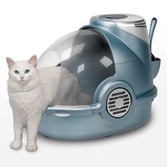 """Bionaire Odor Grabber Litter Box - """"Human bathrooms have fans for a reason and now cats can hit the fan in their litter box as well"""""""