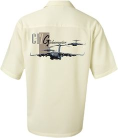 C-17 Globemaster-Airplane Shirt for men-The C17 Globemaster III entered the aviation world in the early 1990's. This versatile cargo aircraft spent the next 20+ years transporting combat equipment, troops and humanitarian aid throughout the world
