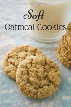 oatmeal cookies \ oatmeal cookies _ oatmeal cookies easy _ oatmeal cookies healthy _ oatmeal cookies chewy _ oatmeal cookies recipes _ oatmeal cookies chocolate chip _ oatmeal cookies easy 2 ingredients _ oatmeal cookies with quick oats Soft Oatmeal Cookies, Oat Cookies, Oatmeal Cookie Recipes, Easy Cookie Recipes, Healthy Cookies, Cookies Et Biscuits, Baking Cookies, Homemade Oatmeal Cookies, Oatmeal Bars