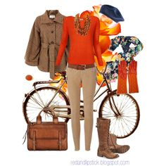 Maybe a little flamboyant, but I like the coat and the deep orange shirt and the great accessories.