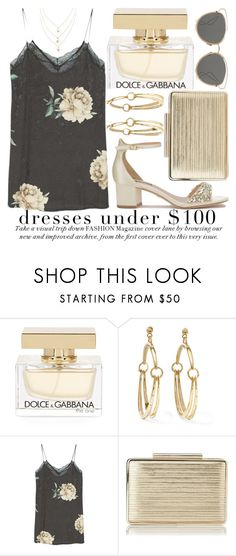"""DRESSES UNDER $100 #3"" by noraaaaaaaaa ❤ liked on Polyvore featuring Dolce&Gabbana, Chloé, MANGO, L.K.Bennett, Christian Dior, dolceandgabbana, dresses and under"