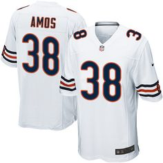 9978bc88b Nike Game Adrian Amos White Men's Jersey - Chicago Bears #38 NFL Road
