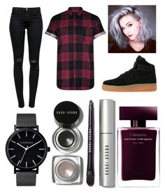 """Untitled #262"" by dounia-bts-swag ❤ liked on Polyvore featuring J Brand, NIKE, The Horse, Bobbi Brown Cosmetics and Narciso Rodriguez"