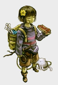 Frisk looks awesome like this Frisk, Undertale Au, Flowey The Flower, Fox Games, Undertale Drawings, Toby Fox, My Hero Academia Manga, Cute Characters, Cool Artwork
