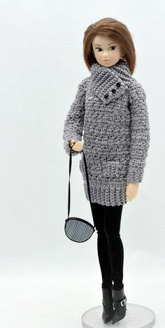 gray-sweater-dress for Momoko
