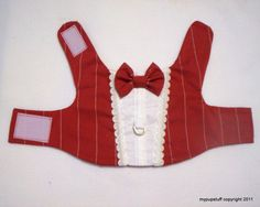 Formal Red Pinstripe Dress Tuxedo Harness for Pets by mypupstuff, $25.00