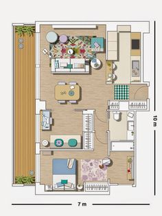Small Apartment Layout, Small Apartments, Small Houses, Tiny House, House  Plans, Apartment Plans, Floor Plans, Sims, Living Room Part 69