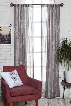 Assembly Home Birch Trees Curtain - Urban Outfitters
