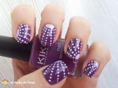 Reto puntos Mivi Nail Art _ Uña completa Dots nails