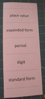 Math is Elementary: Place Value Foldable - Fantastic site
