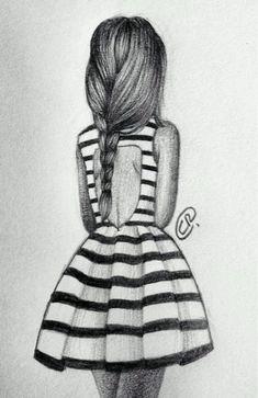 girl, drawing, and dress kép
