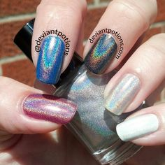 """Lori"" a holographic topcoat from the Walker Collection ★ Available now ★ www.deviantpotions.com"